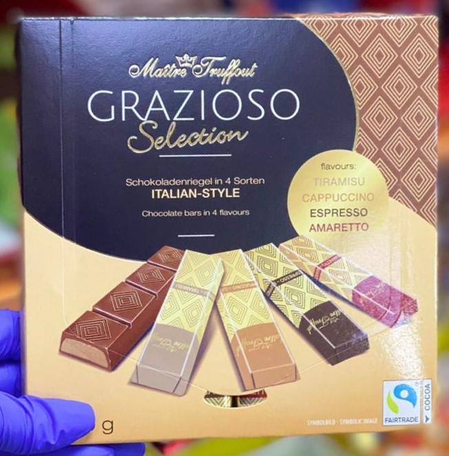 Шоколадные батончики Maitre Truffout Grazioso  italian style 200гр