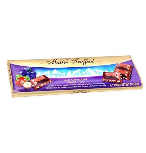 Плитка шоколада Maitre Truffout Grazioso Milchschokolade Traube - Nuss 300гр