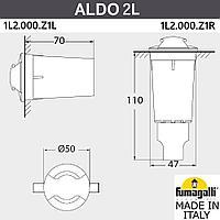 FUMAGALLI Грунтовый светильник светильник FUMAGALLI ALDO 2L 1L2.000.000.AXZ1L