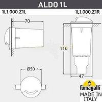 FUMAGALLI Грунтовый светильник светильник FUMAGALLI ALDO 1L 1L1.000.000.AXZ1L