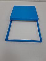 Коробка 25,5*25,5*2см крышка+дно голубая