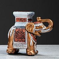 """Подставка декоративная """"Индийский слон"""", бронзовая, 27 см, микс"""