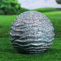 """Садовый декор """"Шар"""", волнистый, цвет серый, 33 см"""