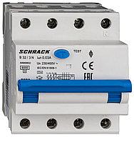 Автоматический выключатель с УЗО 3+N 32А 30мА