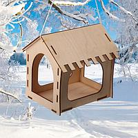 Kopмушка для птиц, 18,5 × 13,5 × 18,5 см, «Комплект-А»