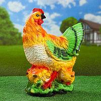 """Садовая фигура """"Курица с цыплятами"""" 41х32см"""