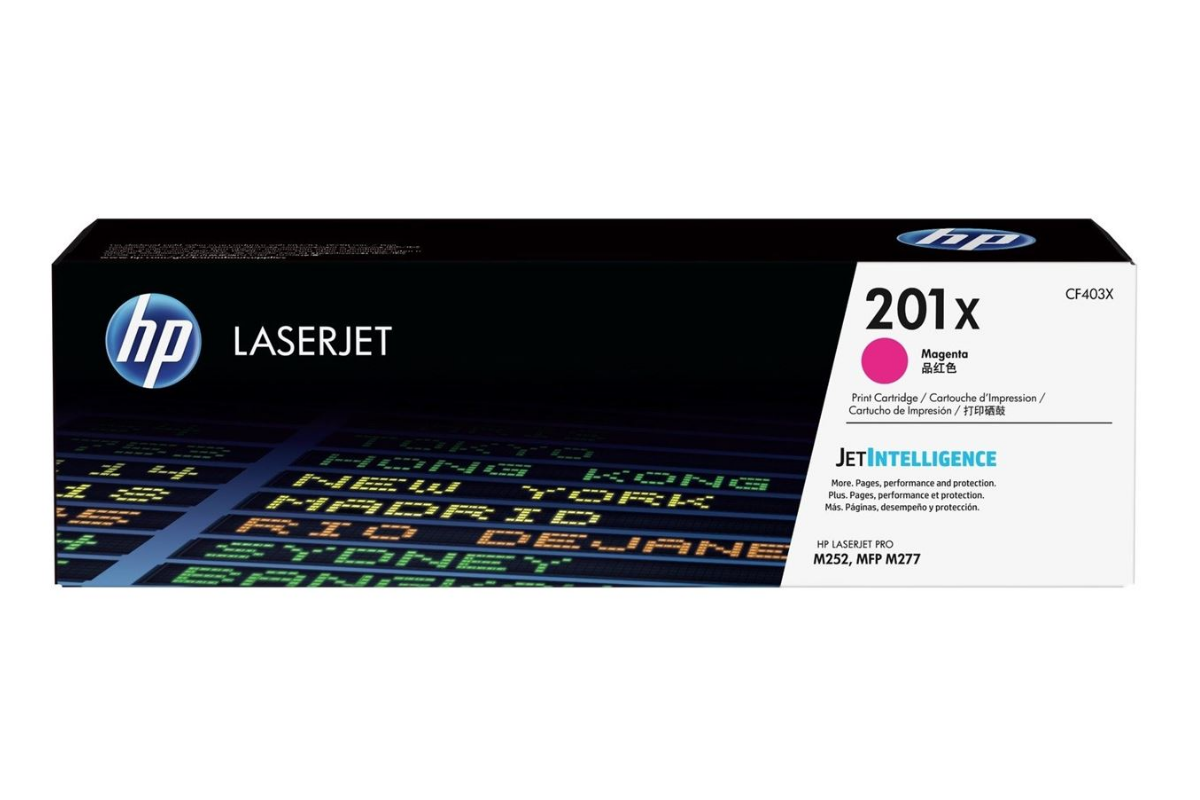 HP CF403X 201X Magenta Toner Cartridge for Color LaserJet Pro M252/MFP M277, up to 2300 pages