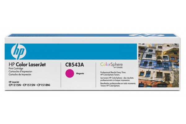 HP CB543A 125A Magenta Print Cartridge Toner for Color LaserJet CM1312/CP1215/CP1515n/CP1518, up to 1400