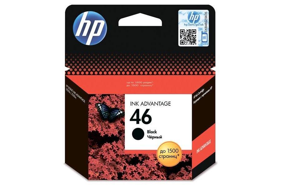 HP CZ637AE Black Ink Advantage Cartridge №46 for DeskJet  2020hc/2520hc, up to 1500 pages.