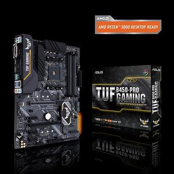 Сист. плата Asus TUF B450-PRO GAMING, B450, AM4, 4xDIMM DDR4, 2xPCI-E x16, 3xPCI-E x1, 2xM.2, 6xSATA, HDMI,