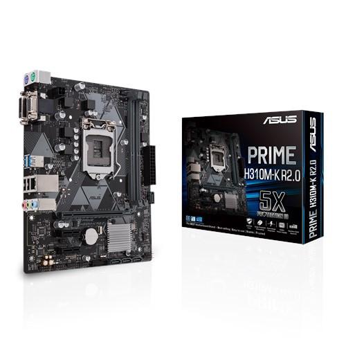 Сист. плата Asus PRIME H310M-K R2.0, H310, S1151, 2xDIMM DDR4, 1xPCI-E x16, 2xPCI-E x1, 4xSATA, DVI-D, VGA,