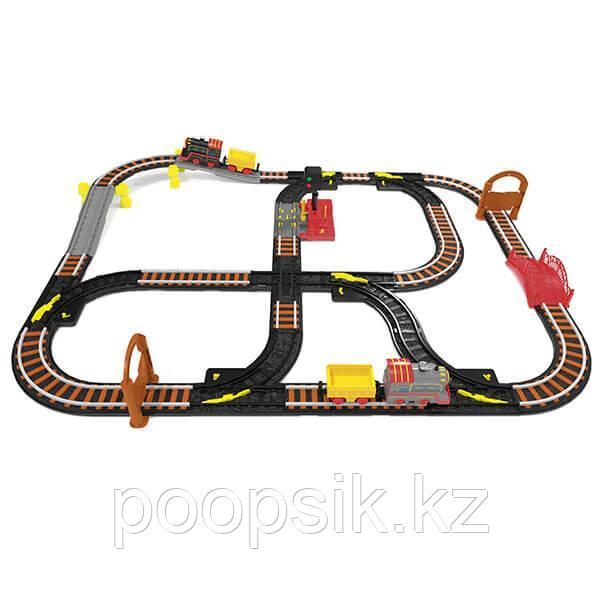 Магистраль Железная дорога с двумя паровозами и семафором Wincars YK-2502 - фото 2