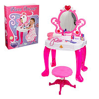 Игровой набор «Столик модницы с пианино», со стульчиком, со звуковыми эффектами