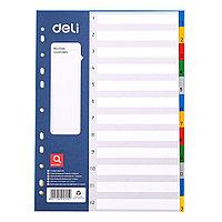 Разделитель листов А4 1-12 Deli 5725A цветной