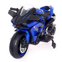 Электромотоцикл «Спортбайк», 2 мотора, цвет синий