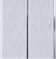 "Потолочная ПВХ панель ""Hast Plast"" 2-вух полосная, 250х3000 мм  (Серебро, серый дождь глянцевый)"