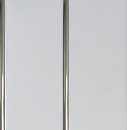 "Потолочная ПВХ панель ""Hast Plast"" 2-вух полосная, 250х3000 мм (Серебро-белый глянцевый)"