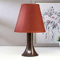 Лампа настольная 92204 1хЕ14 15Вт жемчуг/коричневый d=18 см, h=28,5 см