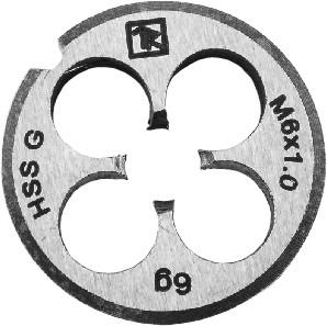 Плашка D-COMBO круглая ручная М6х1.0, HSS, Ф20х7 мм MD61