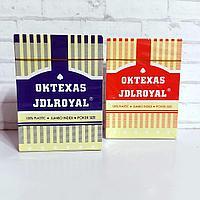 Карты 100% пластик игральные Oktexas JDLRoyal 55 шт 32 мкр