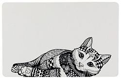 """Коврик под миски """"кошка"""", 44 × 28 cm"""