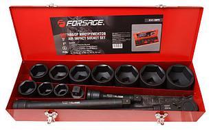 """(F-8141-5MPB) Набор инструментов ударных,15пр. 1"""" 6гр.(36,41,46,50,55,60,65,70,75,80мм),в метал. кейсе"""