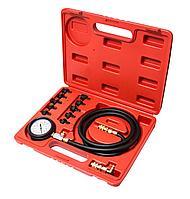 (F-912G1) Тестер давления масла в комплекте с резьбовыми переходниками 12пр.(0-10Bar), в кейсе