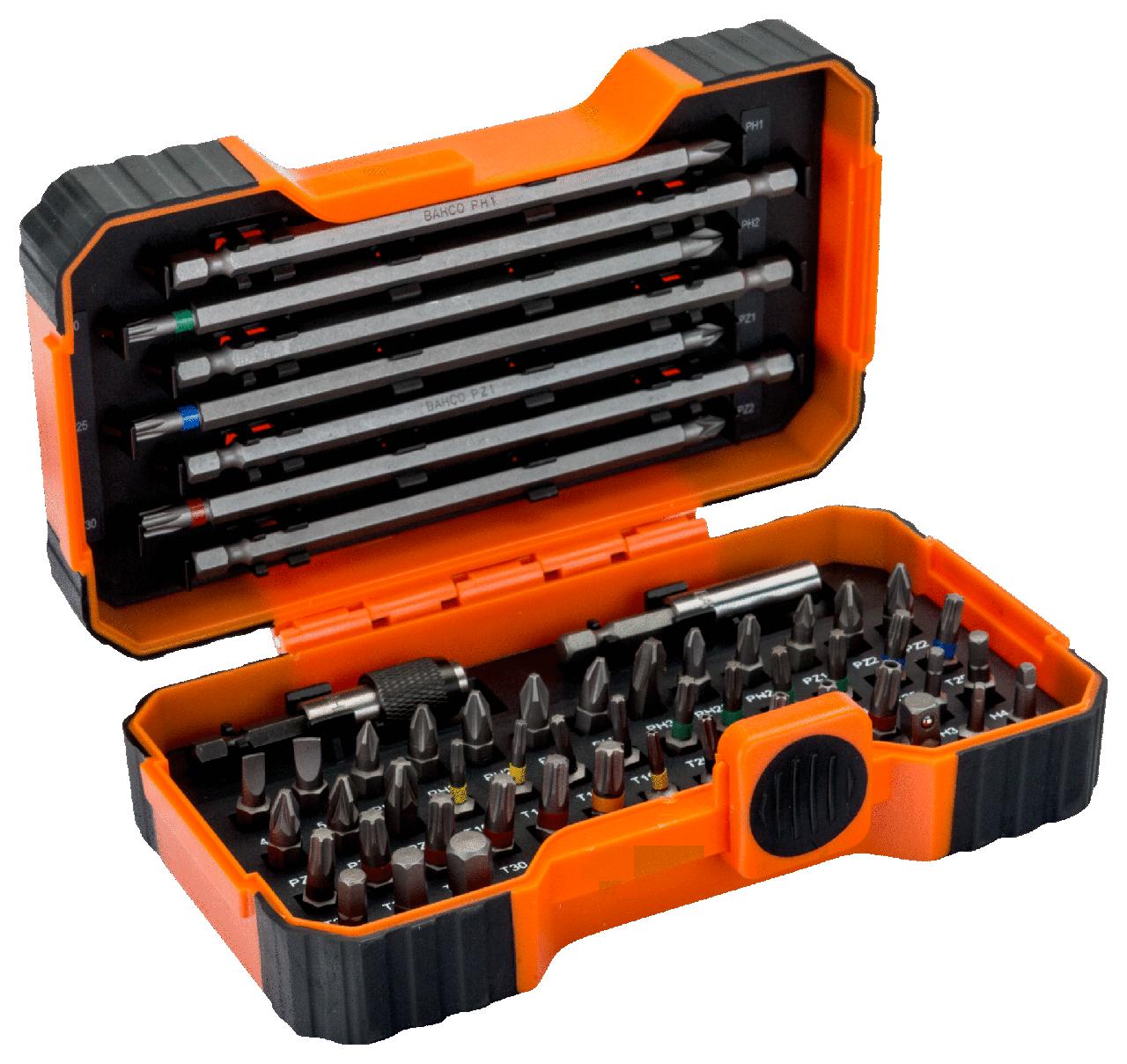 """1/4""""Набор бит 54 предмета, SL,PH,PZ,TORX,TR,HEX,R, магнитный держатель 59/S54BC"""
