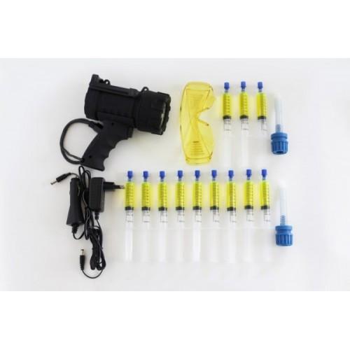 Набор для поиска утечек хладагентов R 134a HFO1234yf с аккумуляторной ультрофиолетовой лампой