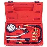 (F-908G1) Индикатор компрессии бензинового двигателя Profi 8пр.(0-21Bar, М10, М12, М14, М18 + 2 жестких