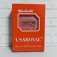 Карты 100% пластик игральные UsaRoyal 54 шт 25 мкм
