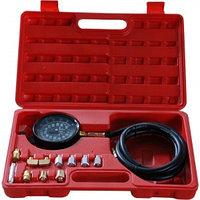 (F-912G02(F-910G1)) Тестер давления масла в комплекте с резьбовыми адаптерами переходниками 12пр., в кейсе