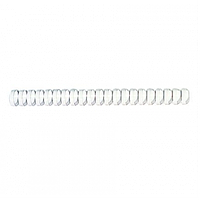 Пружина для переплета, 10 мм, 41-45 л, пластиковая, белая ProfiOffice