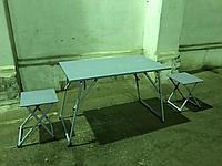 Стол полевой раскладной со стульями (армейский полевой стол)