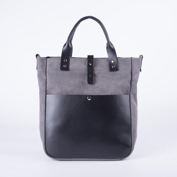 Сумка женская, отдел на молнии, наружный карман, длинный ремень, цвет серый - фото 1