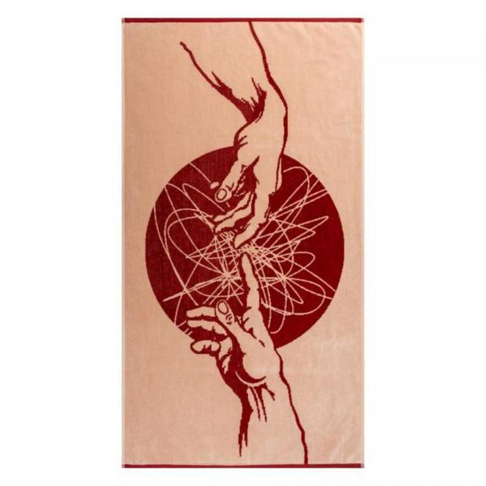 Полотенце махровое Fresco ПЦС-3502-4444 70х130, красный, хлопок 100%, 460г/м2