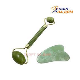 Нефритовый роллер для лица и тела цвет (зелёный)