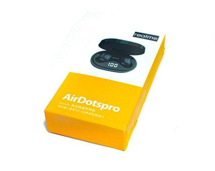 Bluetooth гарнитура Realme AirDots TWS Pro, стерео, бокс с аккумулятором, индикатор, цвет черный