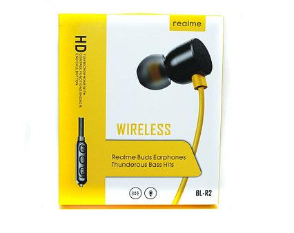 Bluetooth гарнитура Realme Buds BR-R2, нашейная, стерео, вакуумные затычки, цвет черный