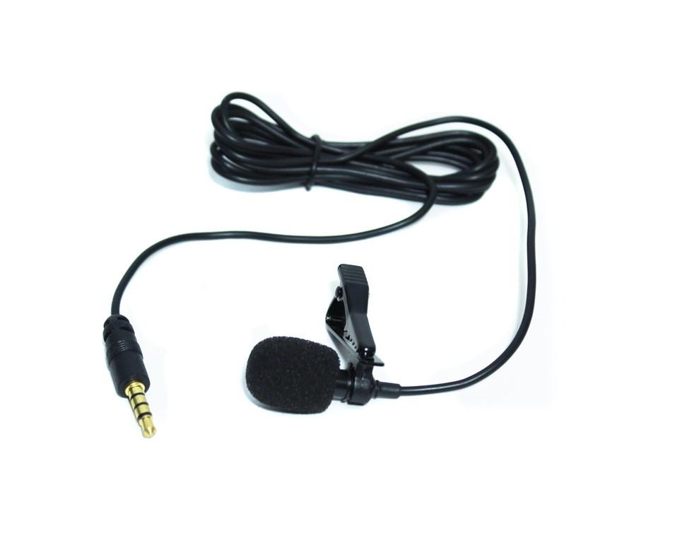 Проводной петличный микрофон с клипсой, 3.5 мм mini jack, длина провода 1.25 м.