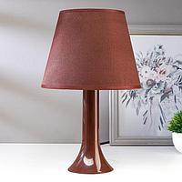 Лампа настольная 13204 1хЕ27 15Вт коричневый d=22 см, h=34,5 см