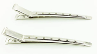 Парикмахерские зажимы для волос металлические 10 шт
