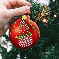 Набор для творчества. Новогодний шар «Снеговик», фото 1