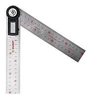 УТЭ-20 транспортир-угломер электронный, 200 мм, Диапазон 0-360°, Точность 0,3°, Фиксация угла, ЗУБР