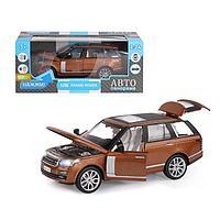 "Машина металл ""Range Rover"" 1:26 цв оранж, откр. двери, капот, багаж,св,зв JB1251132"