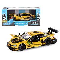 "Машина металл ""BMW M4"" 1:24 желт откр перед дверь и капот, своб ход колес,св,зв JB1251194"