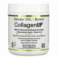 California Gold Nutrition, CollagenUP, морской гидролизованный коллаген, гиалуроновая кислота и витамин C