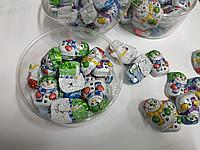 Снеговички в пластиковой коробочке minis schnee mannchen Riegelein (25шт - упак) 125гр