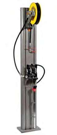 Стационарная система для сбора масла с пневматическим диафрагменным насосом Meclube 042-1416-000