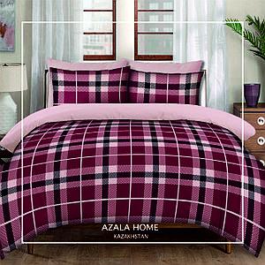 """Комплект постельного белья """"Versal шотланка бордо"""" 2-х спальный"""